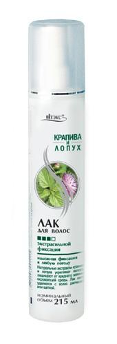 Лак для волос экстрасильной фиксации Крапива и Лопух 215 мл