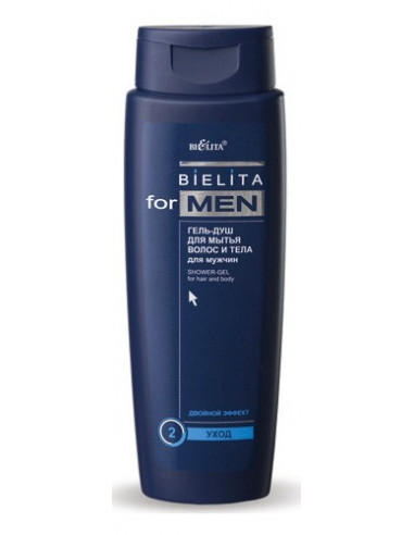 Гель-душ для мытья волос и тела серия Bielita for Men 400 мл