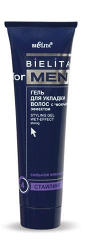 Гель для укладки волос с мокрым эффектом серия Bielita for Men 100 мл
