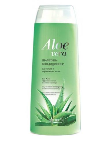 Шампунь-кондиционер для сухих  и нормальных волос серия Aloe Vera 500 мл