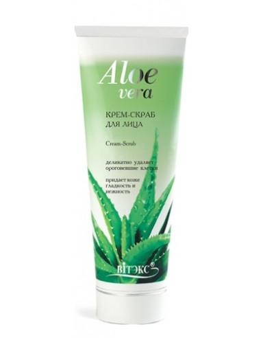 Крем-скраб для лица серия Aloe Vera 100 мл