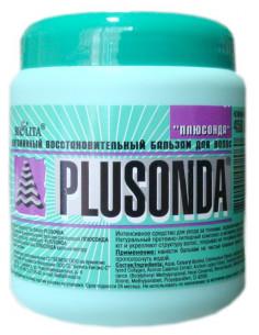 Бальзам-интенсив витаминный для сухих и ломких волос серия Plusonda 450 мл