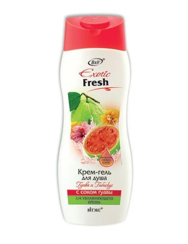 Крем-гель для душа Гуава и Гибискус с соком гуавы серия Exotic Fresh 500 мл