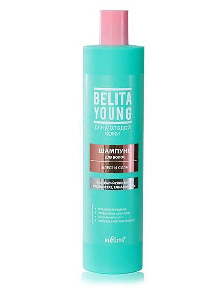Шампунь для волос Блеск и Сила серия Belita Young 400 мл