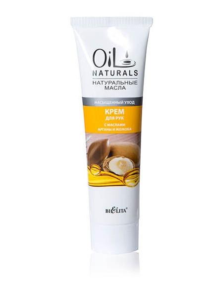 Крем для рук с маслами Арганы и Жожоба Насыщенный уход серия Oil Naturals 100 мл