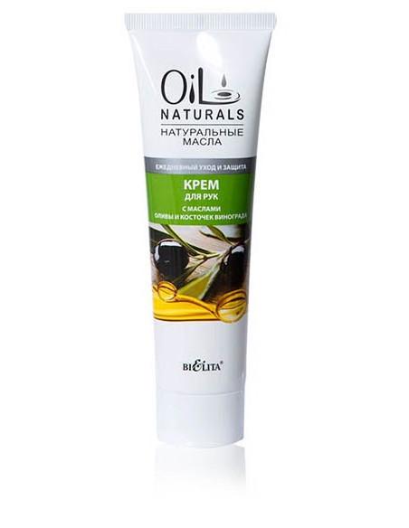 Крем для рук с маслами Оливы и Косточек Винограда Ежедневный уход и защита серия Oil Naturals 100 мл