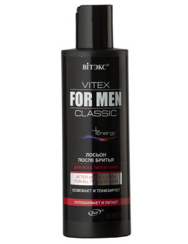 Лосьон после бритья для всех типов кожи серия Vitex for men Classic 200 мл
