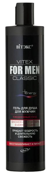 Гель для душа Ежедневный уход серия Vitex for men Classic 400 мл