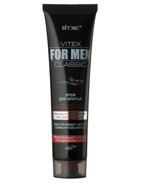 Vitex for men Classic Крем для бритья для сухой и чувствительной кожи 100 мл