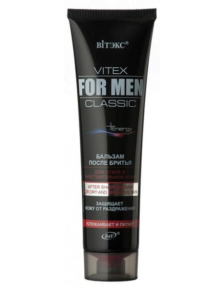 Бальзам после бритья для сухой и чувствительной кожи серия Vitex for men Classic 100 мл