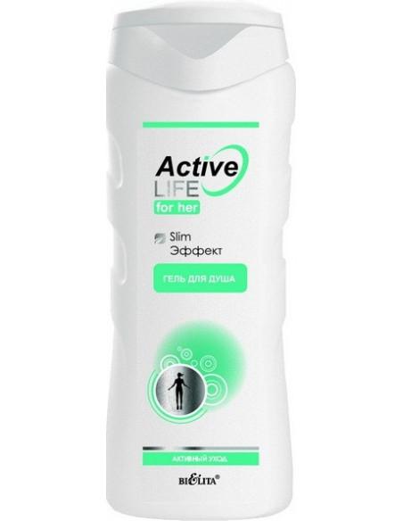 Гель для душа Slim эффект для Неё серия Active Life 250 мл
