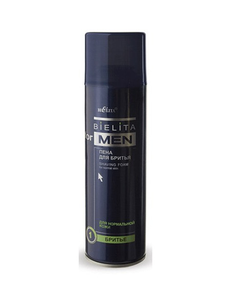 Пена для бритья для нормальной кожи серия Bielita for Men 250 мл