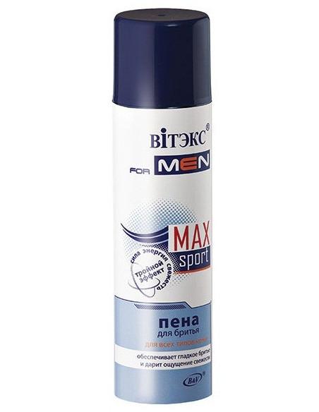 VITEX for MEN sport MAX Пена для бритья для всех типов кожи серия  250 мл