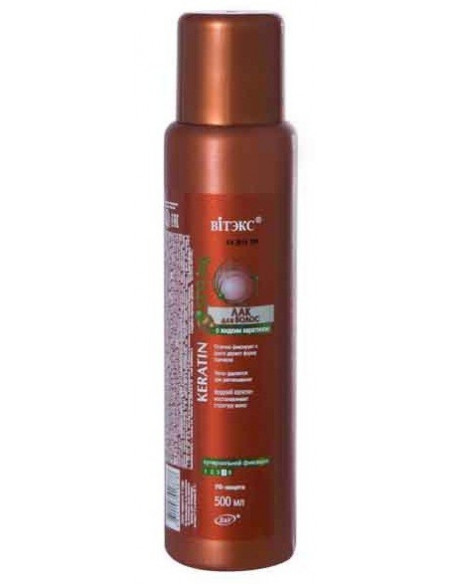 Лак для волос с жидким кератином Суперсильной фиксации серия Keratin Styling 500 мл