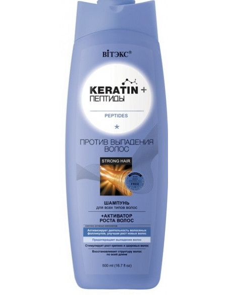 Шампунь Против выпадения волос серия Keratin+ Пептиды 500 мл
