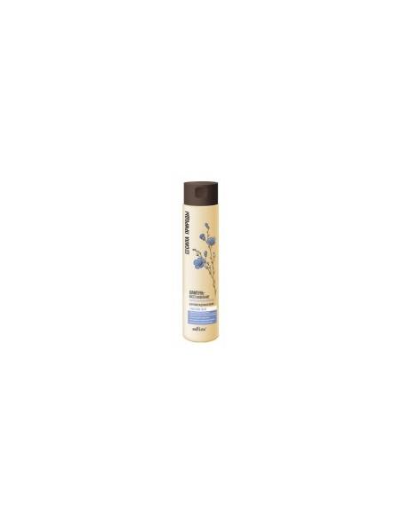 Сила природы Шампунь-восстановление с маслом льна для поврежденных волос с антистатическим эффектом 400 мл.