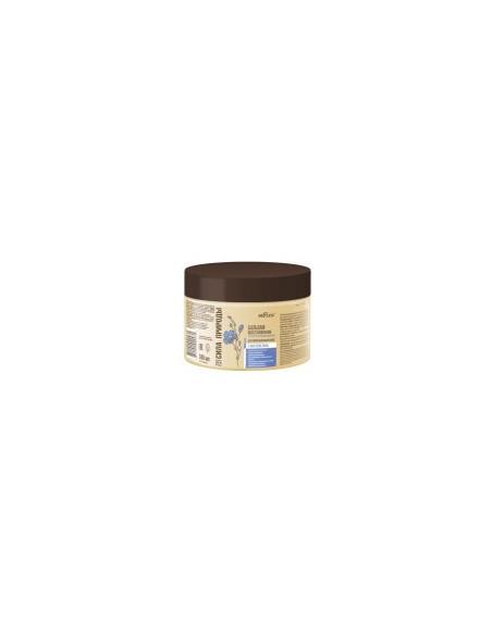 Сила природы Бальзам-восстановление с маслом льна для поврежденных волос с антистатическим эффектом  380 мл.