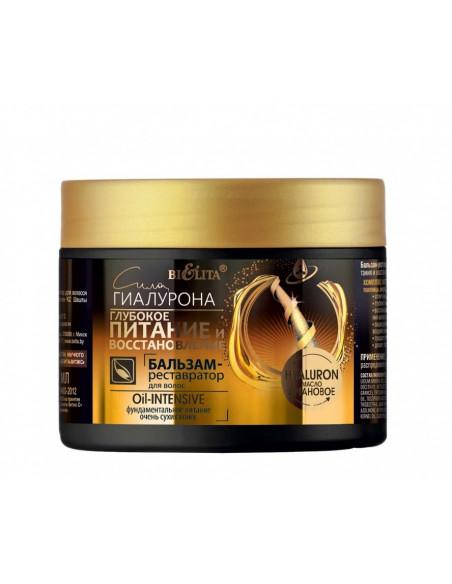 Сила Гиалурона. Глубокое питание и восстановление Бальзам-реставратор для волос Oil-intensive, 300 мл