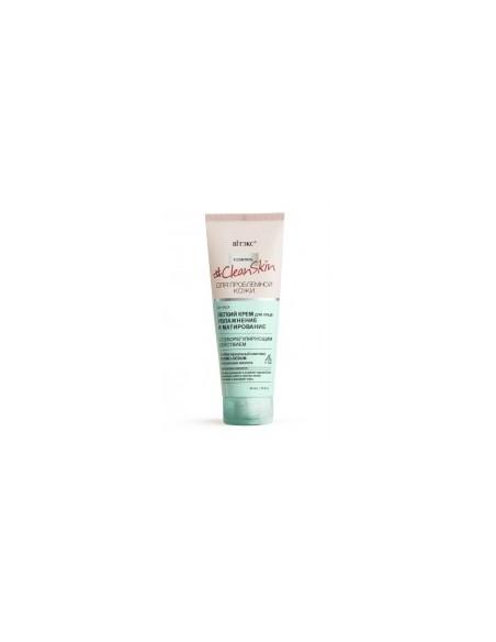 Clean Skin КРЕМ легкий для лица Увлажнение и матирование с себорегулирующим действием, 40 мл
