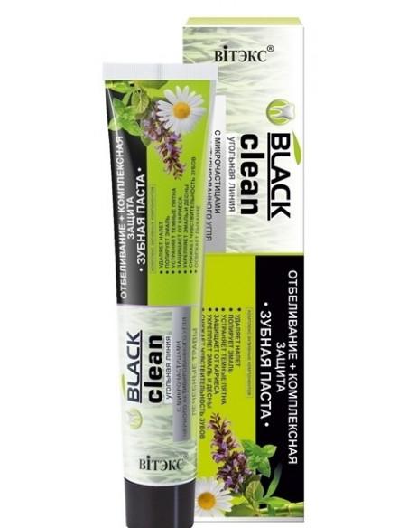 """BLACK CLEAN Зубная паста """"Отбеливание + комплексная защита"""", 85г"""