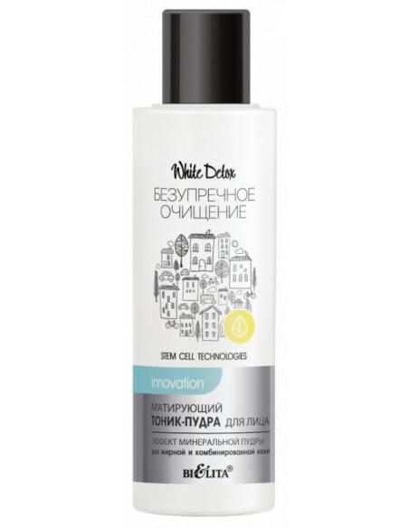 White Detox ТОНИК-ПУДРА матирующий для лица Эффект минеральной пудры для жирной и комбинированной кожи, 100 мл