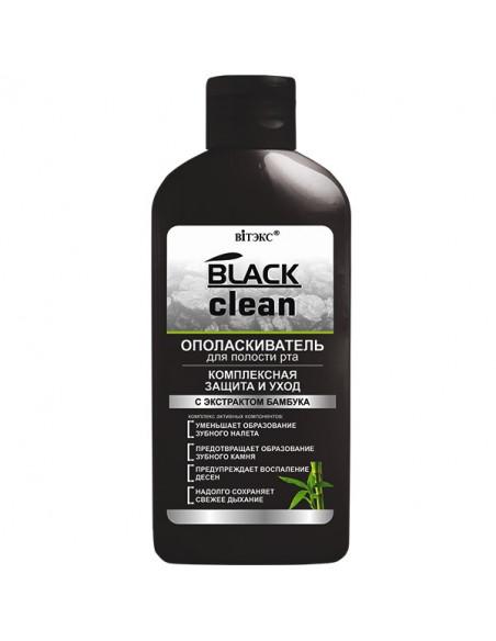 """BLACK CLEAN Ополаскиватель для полости рта """"Комплексная защита и уход"""", 285 мл"""