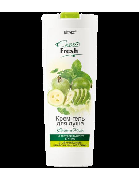 Exotic Fresh Крем-гель для душа Фейхоа и Мята, 500мл