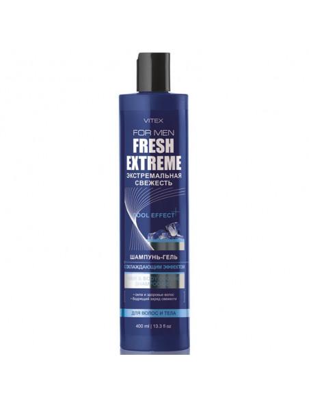 Vitex For Men Fresh Extreme Шампунь-гель для волос и тела с охлаждающим эффектом, 400мл
