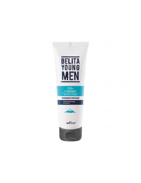 BELITA YOUNG MEN Гель-стайлинг Невидимая фиксация для волос и бороды, 100мл