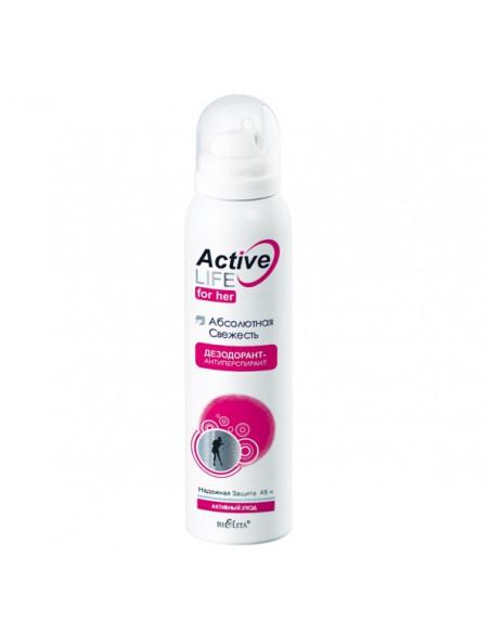 Active Life Дезодорант-антиперспирант для нее Абсолютная свежесть