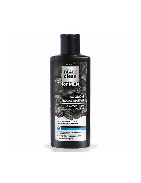 BLACK clean for MEN ЛОСЬОН ПОСЛЕ БРИТЬЯ с активным углем