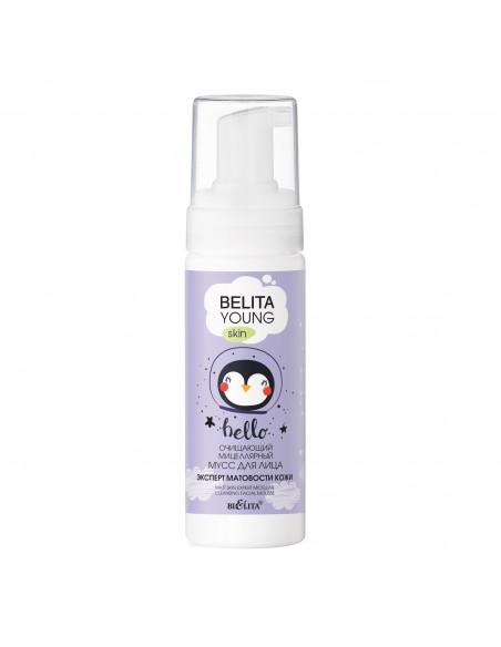 BELITA YOUNG SKIN Очищающий мицеллярный МУСС для лица Эксперт матовости кожи