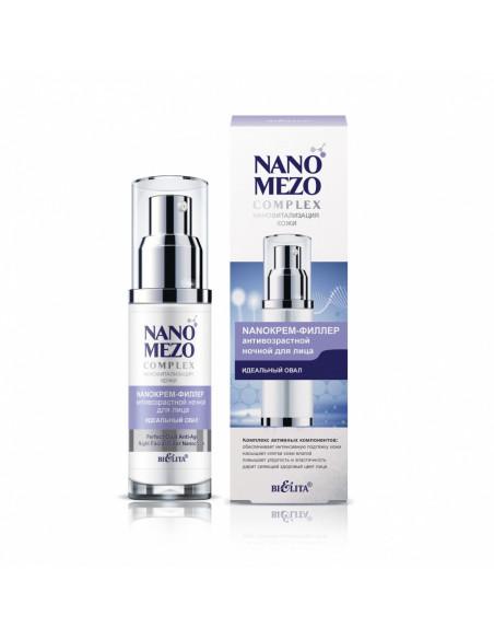 NANOMEZOCOMPLEX NanoКрем-филлер антивозрастной ночной для лица Идеальный овал