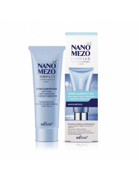 NANOMEZOCOMPLEX Крем-сыворотка для лица шеи и декольте с лифтинг-эффектом