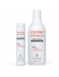 KROM CAVIAR Защитный шампунь с протеинами, экстрактом икры и морских водорослей