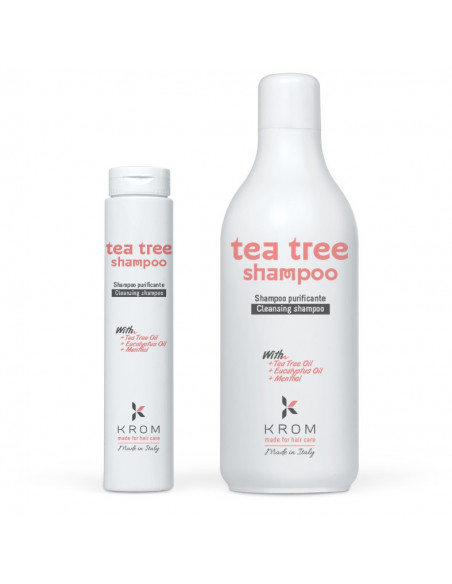 KROM TEA TREE Шампунь очищающий с маслами чайного дерева, эвкалипта и ментолом