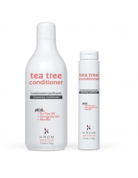 KROM TEA TREE Кондиционер очищающий с маслами чайного дерева, эвкалипта и ментолом