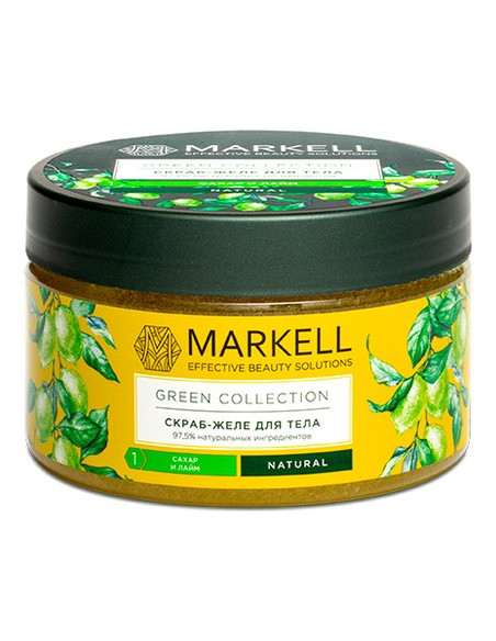 MARKELL GREEN COLLECTION Скраб-желе для тела Сахар и лайм