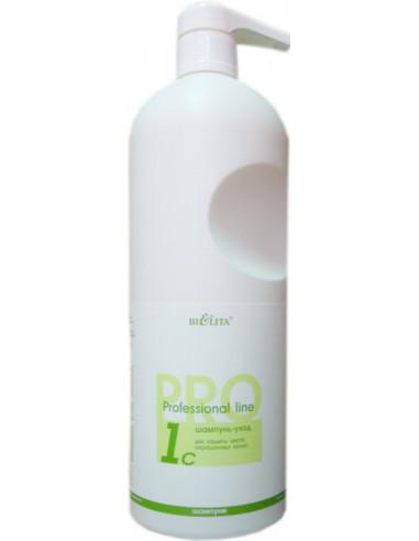 Шампунь-уход для Окрашенных волос 1С серия Professional line 1000 мл